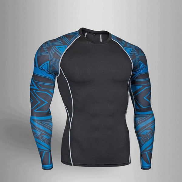 Man Compression Sports Suit Quick drying Perspiration Fitness Training MMA Kit rashguard Male Sportswear Jogging Running Clothes