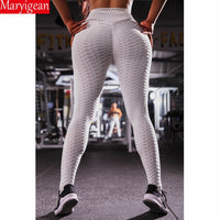 Maryigean Solid Legging Women Polyester Super Elastic High Waist Pant Workout Leggings Push Up Fitness Female Legging Sportswear