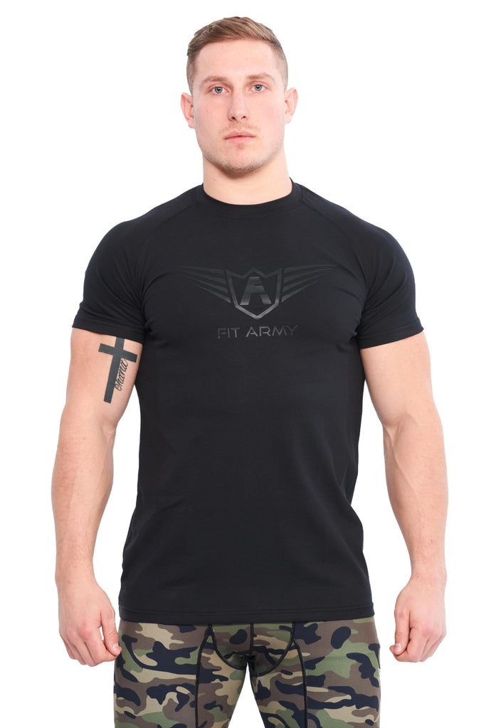 T SHIRT ÉTIRÉ COMMANDER SCOOP NOIR | JOGGING-COURSE