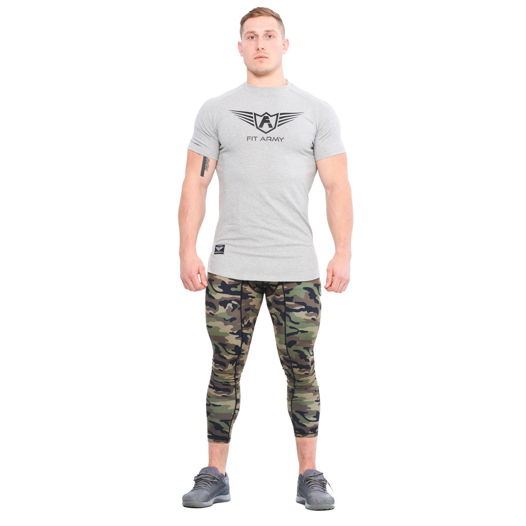 T SHIRT ÉTIRÉ COMMANDER SCOOP GRIS | JOGGING-COURSE