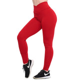 Crunch Leggings Taille Haute V Rouge | Crunches Leggings V Waist RED