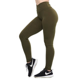 Crunch Leggings Taille Haute V Vert Kaki | Crunches Leggings V Waist KHAKI