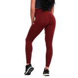 LEGGINGS DE COMPRESSION À TAILLE HAUTE MARRON | JOGGING-COURSE