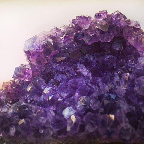 close up of amethyst crystal