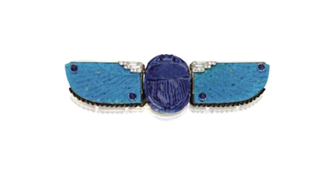 1926 Cartier scarab belt buckle like Tarra Rosenbaum Faience jewelry from the gods collection