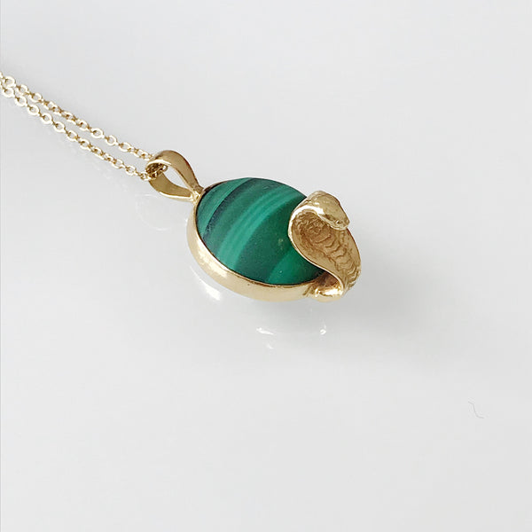 Green and Gold Snake Necklace
