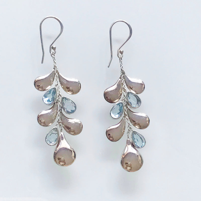 Blue Topaz Water Earring