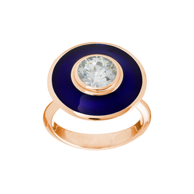 Aegean Blue Aurora Ring
