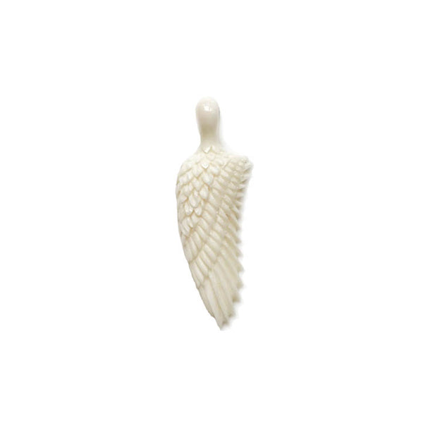 Large Hand Carved Recycled Bone Wing