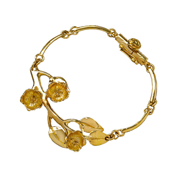 Golden Cherry Blossom Bracelet