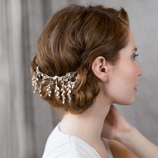 Pearl and Petal Hair Comb
