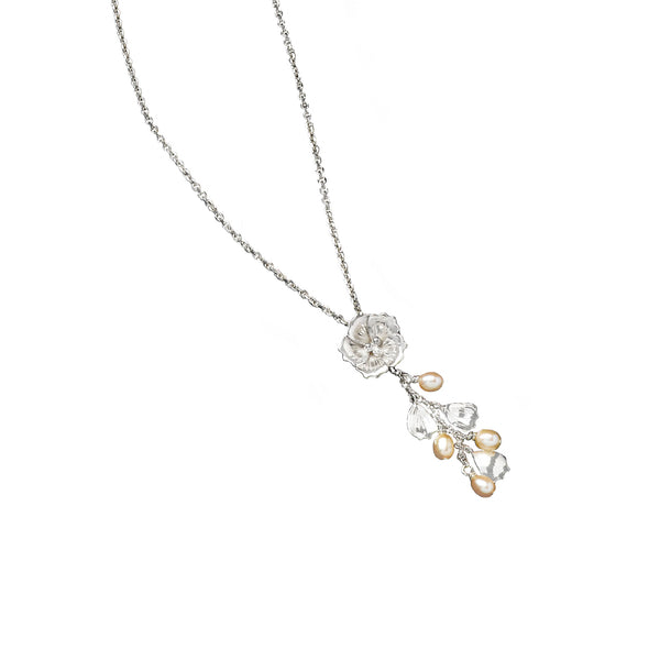 Pearl and Petal Cherry Blossom Pendant