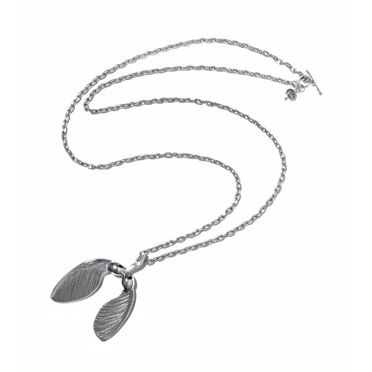 Maple Helicopter Pod Necklace in Sterling Silver