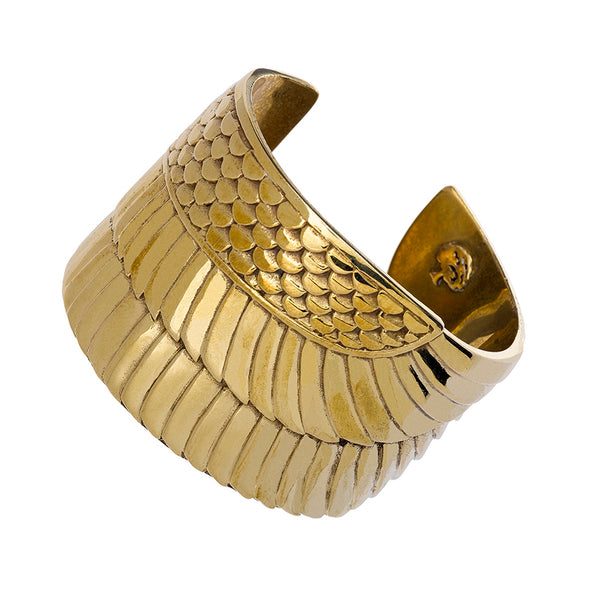 Golden Goddess Isis Wing Cuff