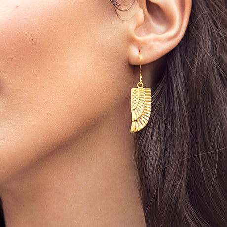 Golden Isis Wing Earrings