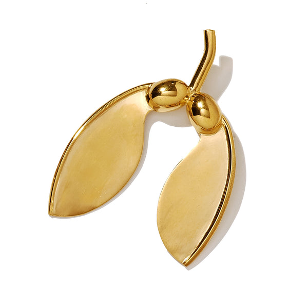 Large Gold Vermeil Maple Helicopter Pod