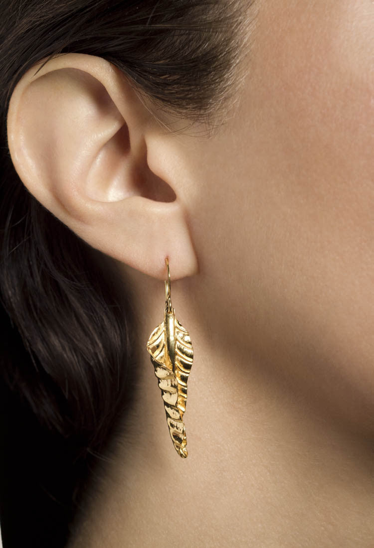 Twirling Autumn Leaf Earrings