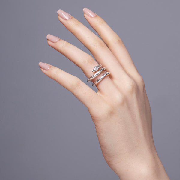 Wadjet Coiled Snake Ring