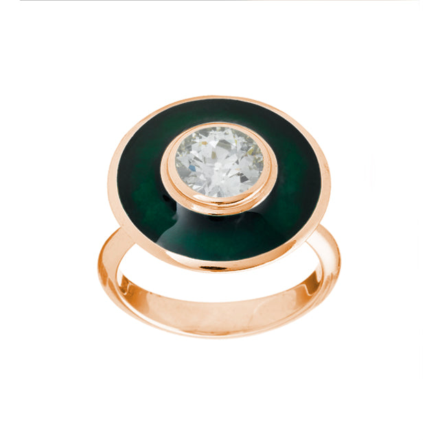 Rainforest Green Aurora Ring