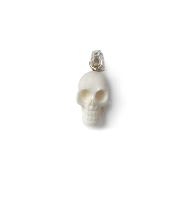 White Skull Charm from Recycled Bone