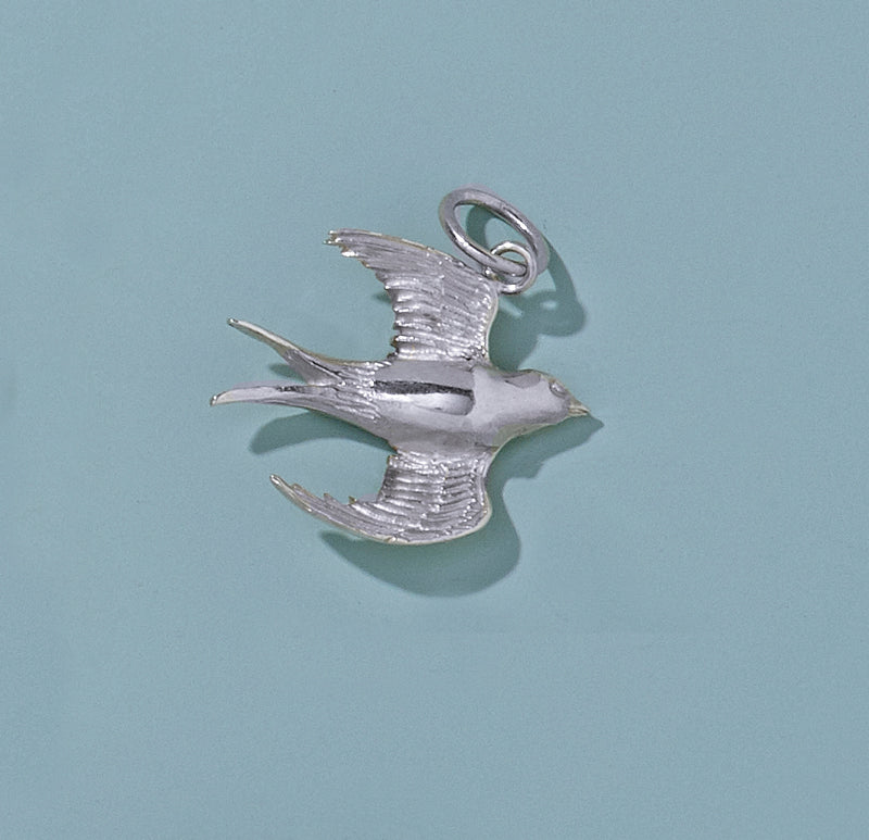 Soaring Sterling Silver Swallow