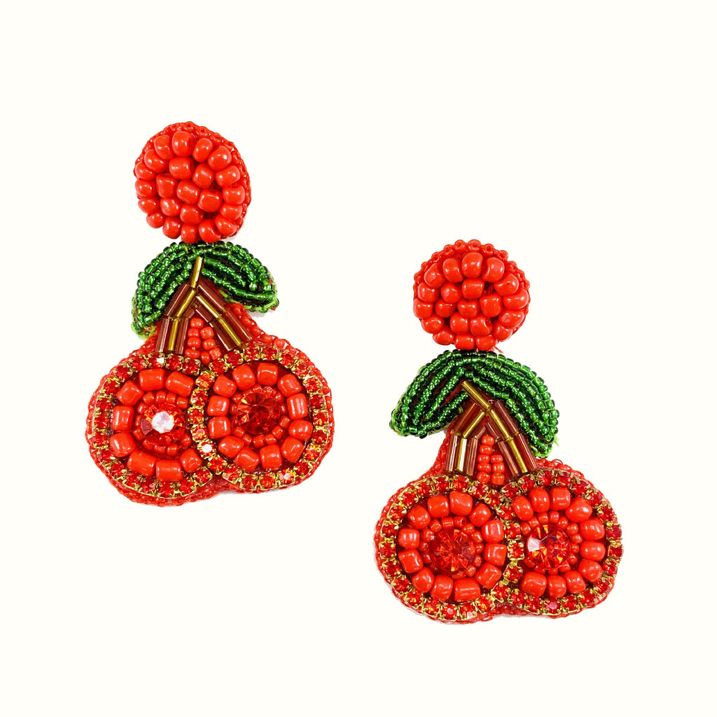Cherry | Handcrafted Earrings