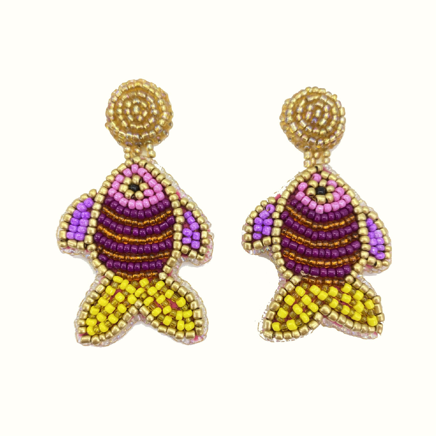 Fishes Purple | Handcrafted Earrings
