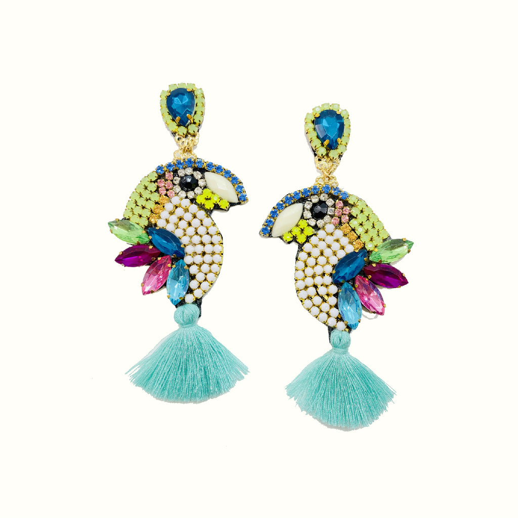 Parrots Turquoise | Handcrafted Earrings