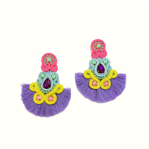 Tear Drops Lilac | Handcrafted Earrings