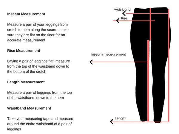 Ali August Leggings Size Chart