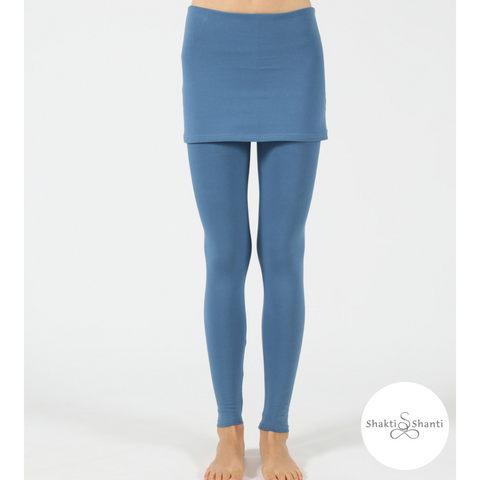 Shakti Shanti Yogawear -  Skirt Leggings Extra Length (Blue Horizon)