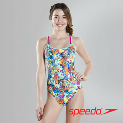 Speedo Teen Females Flipturns Glow Ball Double Crossback Swimsuit