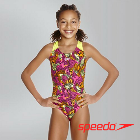 Speedo Girl's Electric Ball Allover Splashback Swimwear