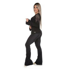 Gym Rocks Women's Lustrous Flare Tight Legging