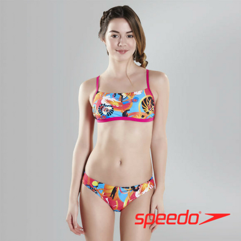 Speedo Teen Females Flipturns Solar Pavola 2 Piece Crossback Swimsuit
