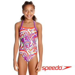 Speedo Girl's Astro Fizz Thinstrap Crossback Swimsuit