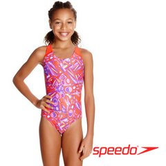 Speedo Girl's Lunar Pop Allover Splashback Swimsuit
