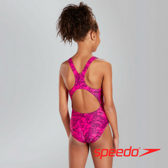 Speedo Girl's Boom Allover Splashback Swimsuit