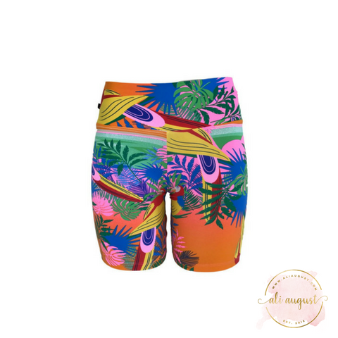Ali August Paco The Parrot Pattern Shorts
