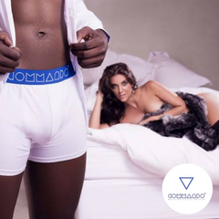 Commando Men's Underwear - White & Blue