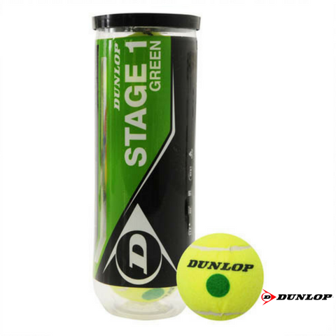 Dunlop Stage 1 Green No Altitude Tennis Balls Junior Size