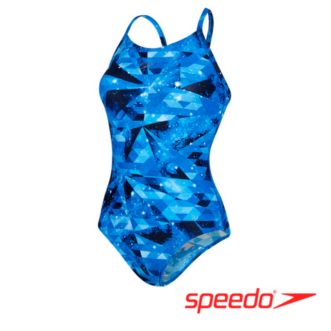 Speedo Women's Cosmic Point Allover Thinstrap Muscleback
