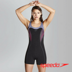 Speedo Women's Fit Legsuit Kickback Swimsuit