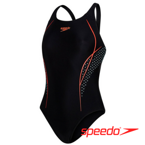 Speedo Women's Start Shift Placement Powerback Swimsuit