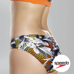 Speedo Women's Hydra Fizz Sport Brief - Back Close up