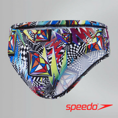 Speedo Teen Males Flipturns Boom Funk 5cm Allover Brief