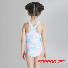 Speedo Girl's Cosmic Cloud Essential All Over 1 Piece