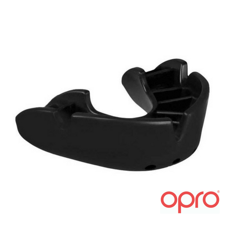 Opro Bronze Mouthguard - Black