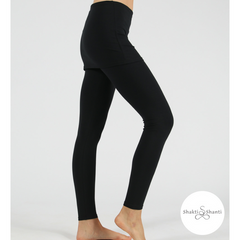 Shakti Shanti Yogawear -  Skirt Leggings Regular Length (Black)
