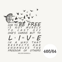 466/64 Legacy Range Women's Freedom Quote T-shirt